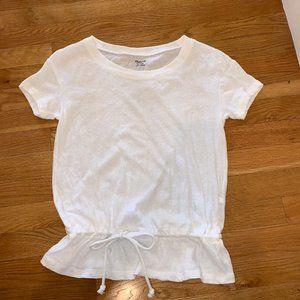 Cute Madewell White T-shirt Tie Waist Size…